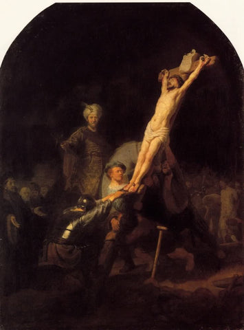 The Raising of the Cross (1633) by Rembrandt