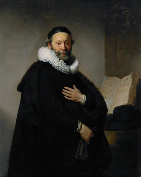 Johannes the preacher by Rembrandt
