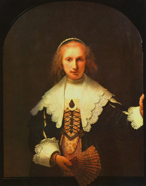 Portrait of Agatha Bas by Rembrandt