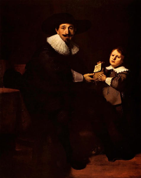Portrait of Pellicorne and son by Rembrandt