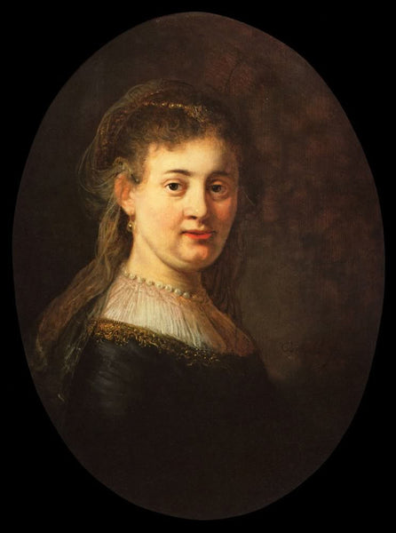 Bust of a Young Woman (1633) by Rembrandt