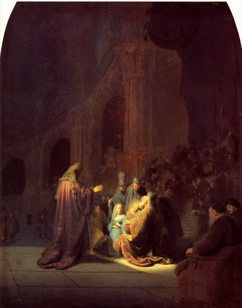 Simeon in the Temple (1631) by Rembrandt