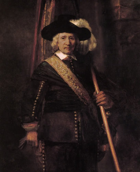 The standard bearer by Rembrandt
