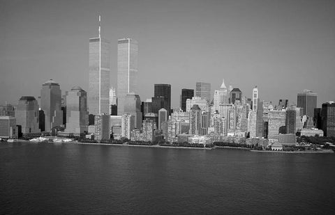 Aerial of the World Trade Center New York City taken about two months before the 9/11 tragedy
