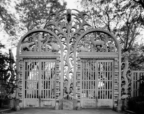 "Gates to the Bronx Zoo called the ""Rainey Gates"" New York New York"