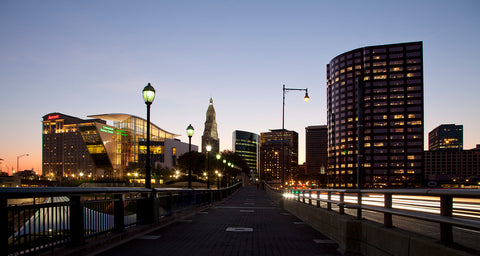 Skyline view of Hartford Connecticut