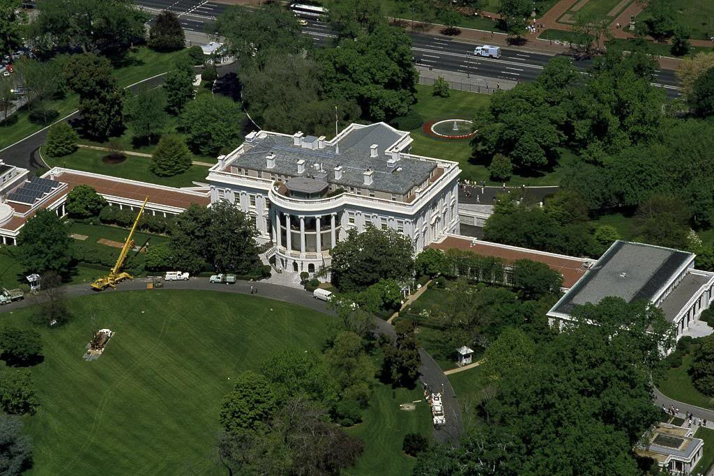 Pleasant Aerial View Of The White House Washington D C Download Free Architecture Designs Scobabritishbridgeorg