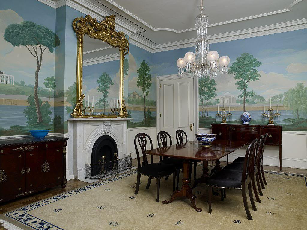 Jackson Place Dining Room Blair House Located Across From The White Washington DC