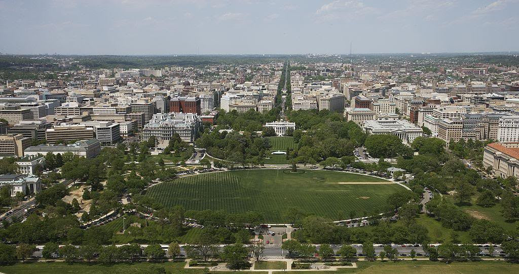 Astonishing Aerial View Of White House And Downtown Washington D C Download Free Architecture Designs Scobabritishbridgeorg