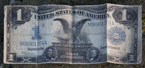 A 1902 silver certificate offered by Frances Benjamin Johnston renowned American photographer found under a name plate on Johnston's camera tripod in Cordova Alabama