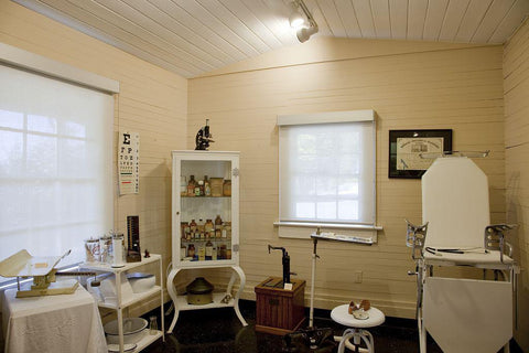1930s exhibit view of a typical doctor's office located in the Mobile Medical Museum which is housed in the Vincent/Doan House built in 1827 and is one of the oldest structures in Mobile Alabama