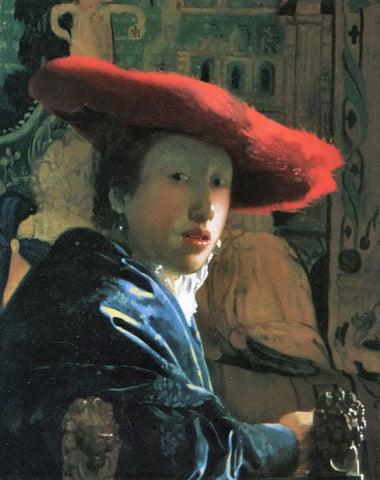 Girl with Red Hat (1666) by Johannes Vermeer