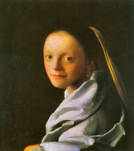 Portrait of a Young Woman (1667) by Johannes Vermeer