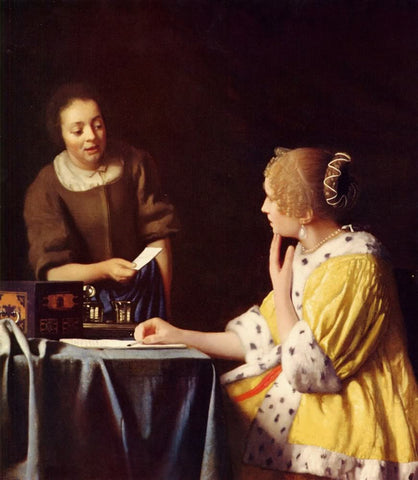 Mistress and Maid (1667) by Johannes Vermeer