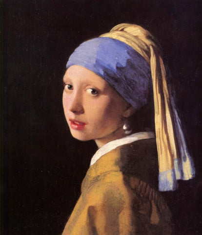 The Girl with the Pearl Earring (1665) by Johannes Vermeer