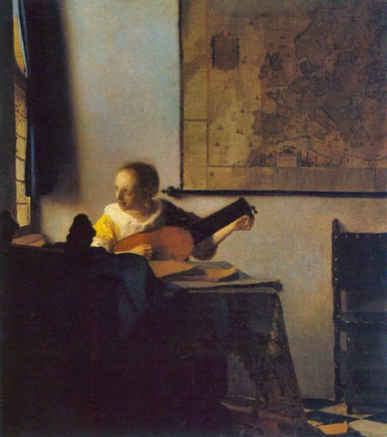 Woman with a Lute (1663) by Johannes Vermeer
