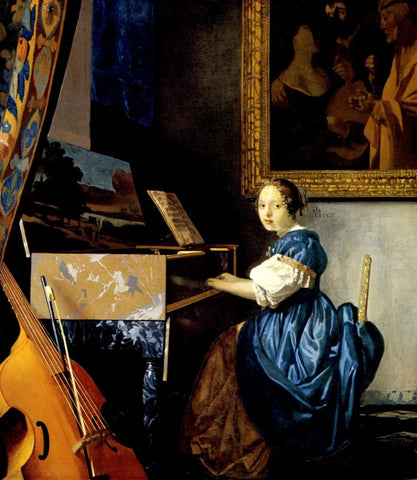 Lady Seated at a Virginal (1672) by Johannes Vermeer