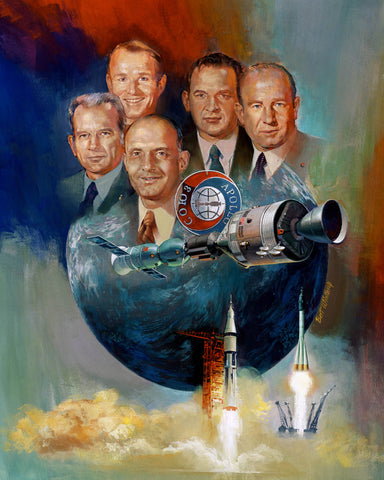 Apollo-Soyuz Test Project symbolic painting
