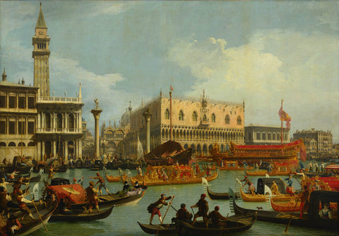 Bucentaur's Return to the Pier by the Palazzo Ducale (1729) by Canaletto