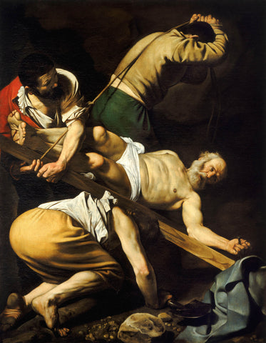 Crucifixion of Saint Peter (1600) by Caravaggio