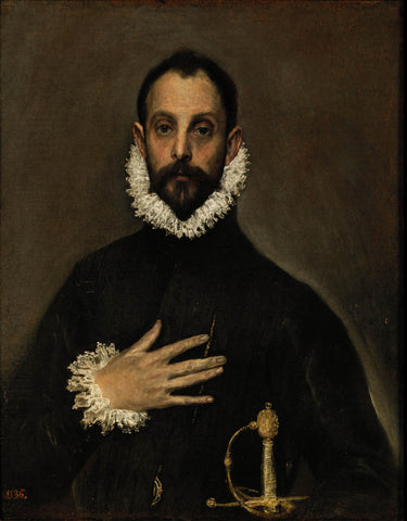 Gentleman with his Hand on his Chest (1580) by El Greco