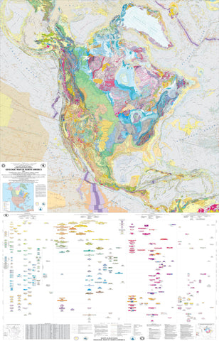 Geologic map of North America