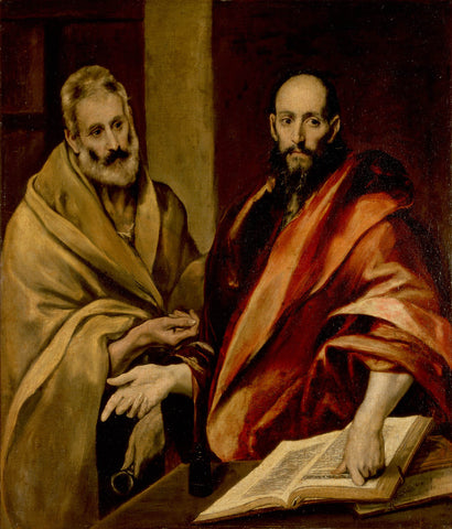 The Apostles Peter and Paul (1592) by El Greco