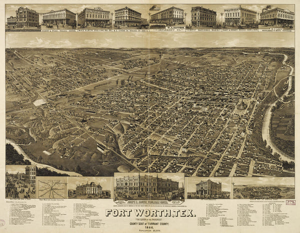 Old map-Fort Worth-1886