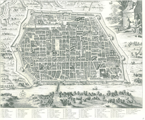 Pavia old map