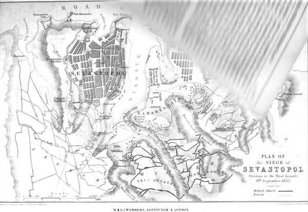 Plan of the Siege of Sevastopol. George Dodd. Pictorial history of the Russian war 1854-5-6
