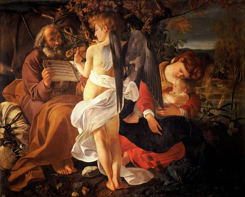 Rest on the Flight into Egypt (1597) by Caravaggio