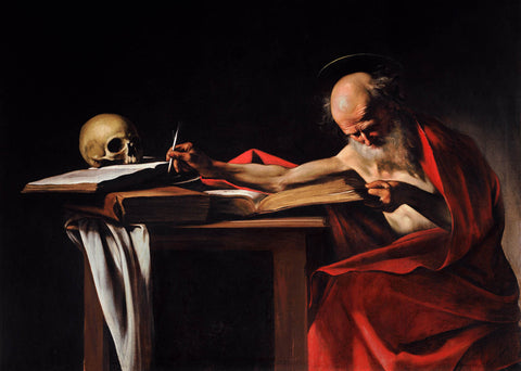 Saint Jerome Writing (1606) by Caravaggio