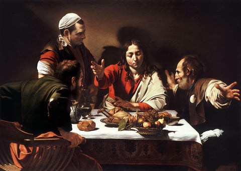 Supper at Emmaus (1601) by Caravaggio