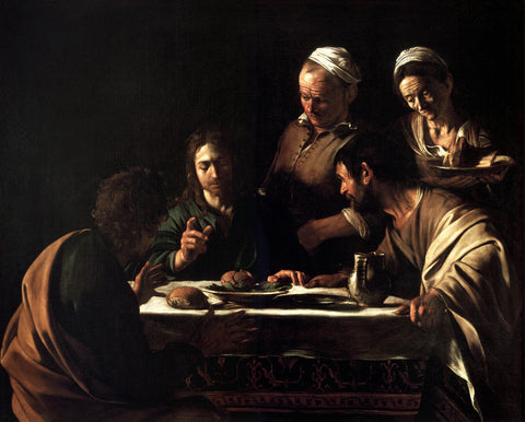 Supper at Emmaus (1606) by Caravaggio