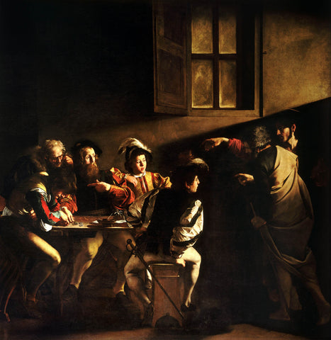 The Calling of Saint Matthew-Caravaggo (1599-1600)