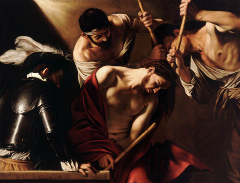 The Crowning with Thorns (1602) by Caravaggio
