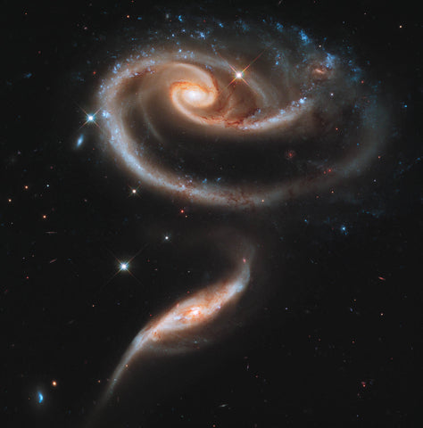 UGC 1810 and UGC 1813 in Arp 273 (captured by the Hubble Space Telescope)