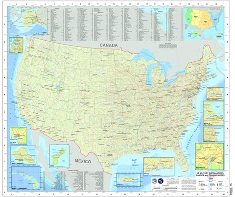 U.S. Military Installations Map