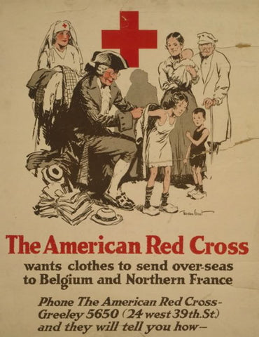 The American Red Cross wants clothes to send over-seas to Belgium and Northern France Phone the American Red Cross - Greeley 5650 (24 west 39th. St.) and they will tell you how /
