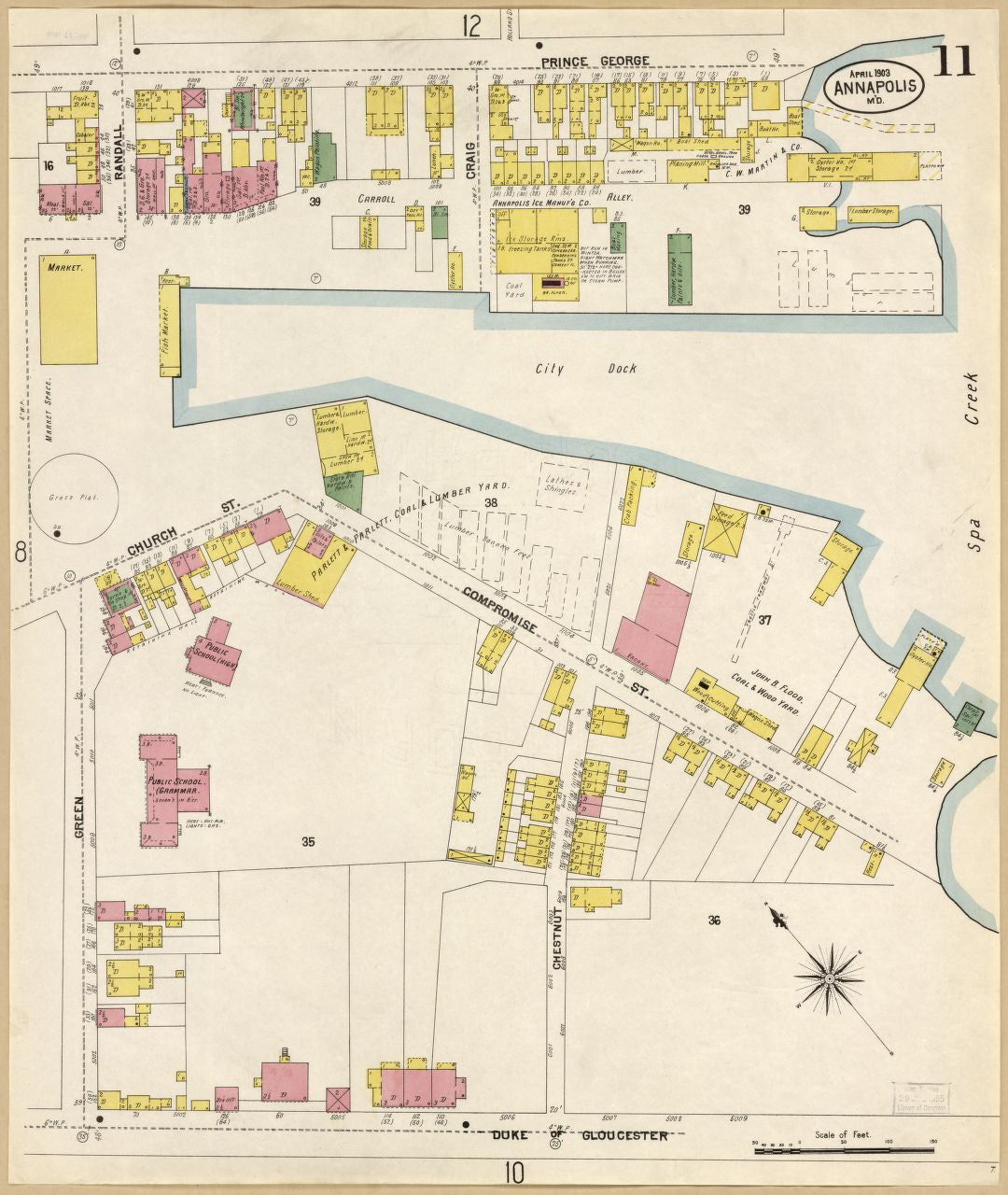 Sanborn Fire Insurance Map from Annapolis, Maryland – VintPrint.com ...