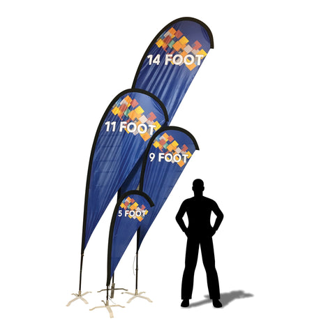 Custom Print Advertising TearDrop Flags