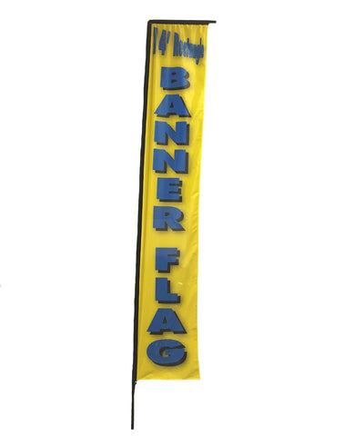 14 foot Banner Flag - Custom Print with hardware