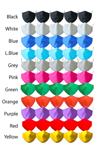 Classic colour fabric face masks