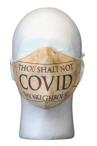 Thou Shalt Not COVID Thy Neighbour face mask