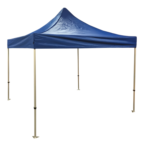 Economy 10x10 Solid Colour Canopy Tent Package Blue