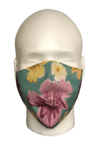 Hawaiian Flower Fabric mask