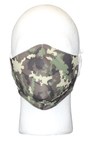 Green Camo Fabric Face Mask