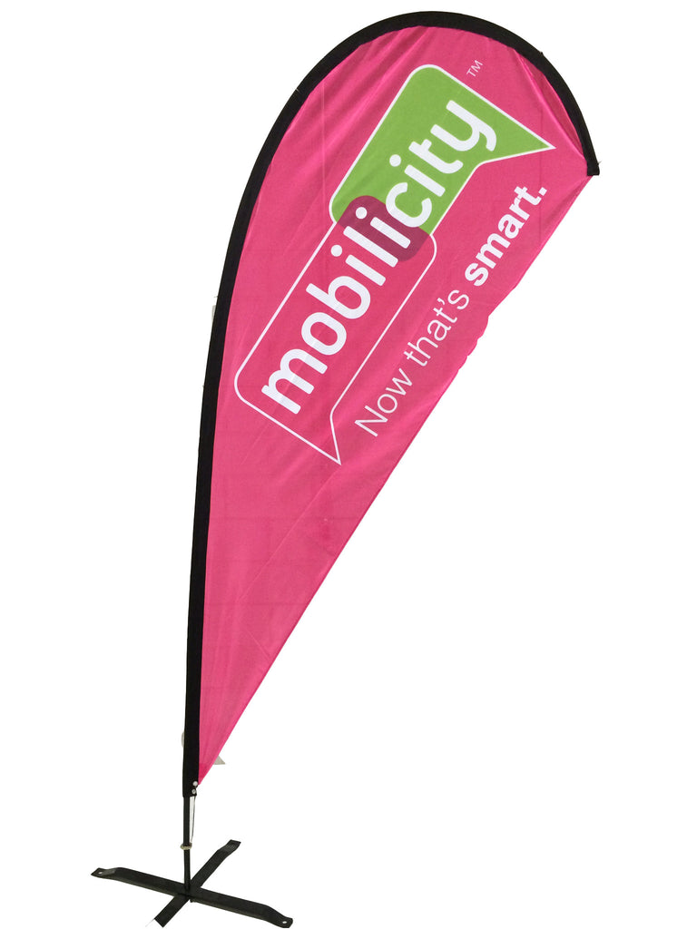 Mobilicity Teardrop flag from AirDancers.ca