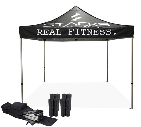 Custom Tent 10x10 Package #1 Made in Canada - Frame & Custom Printed Canopy