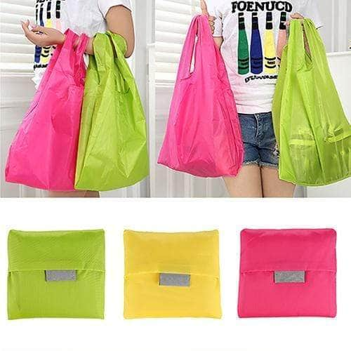 Large Eco Friendly Reusable Nylon Foldable Shopping Bags - TidyTown